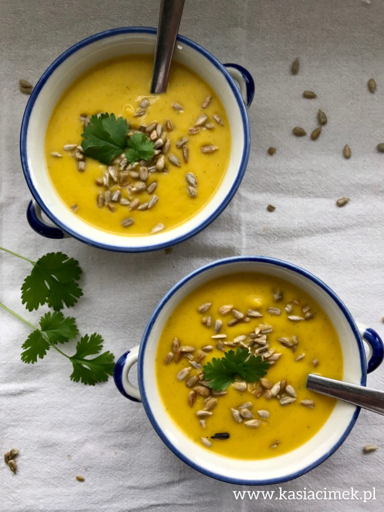 zupa krem marchewkowy z kolendrą